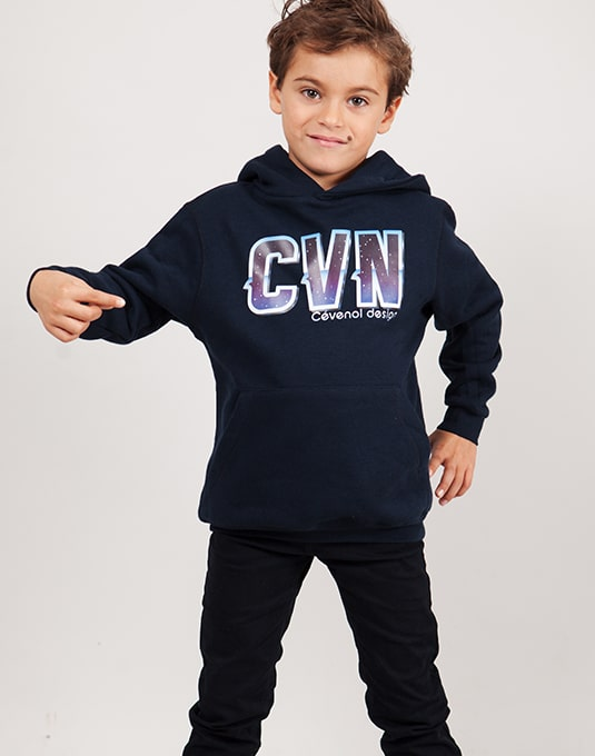 Sweat capuche enfant CVN Space – CVNSTORE