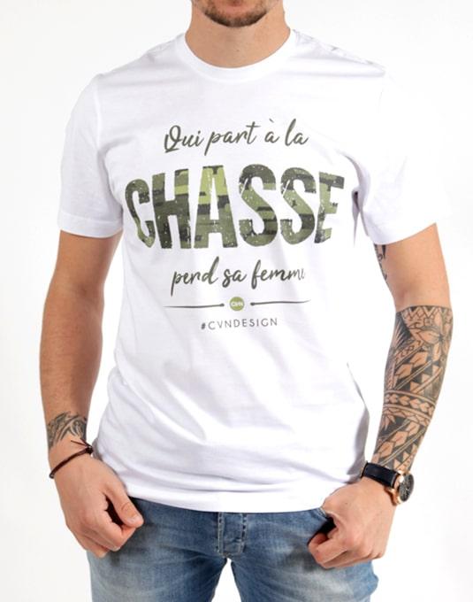 T Femme La À Chasse Part Qui Sa Shirt Hommeclassic Perd 6ybf7g