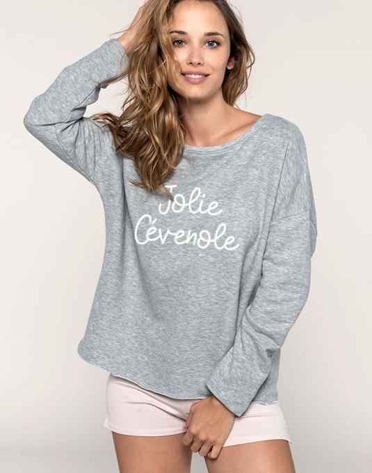56aea8e80 Sweat-shirt Loose femme chiné - Jolie Cévenole